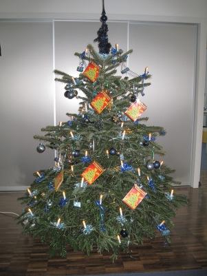 Weihnachtsbaum ReadSoft Kinderwünsche